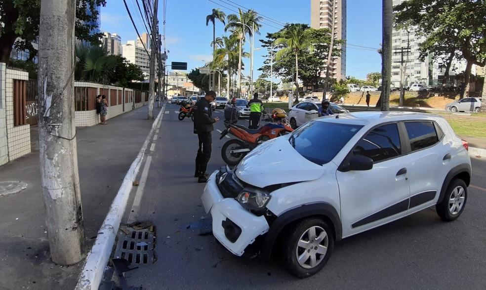 Caso ocorreu na Av. Centenário — Foto: Raphael Marques/TV Bahia