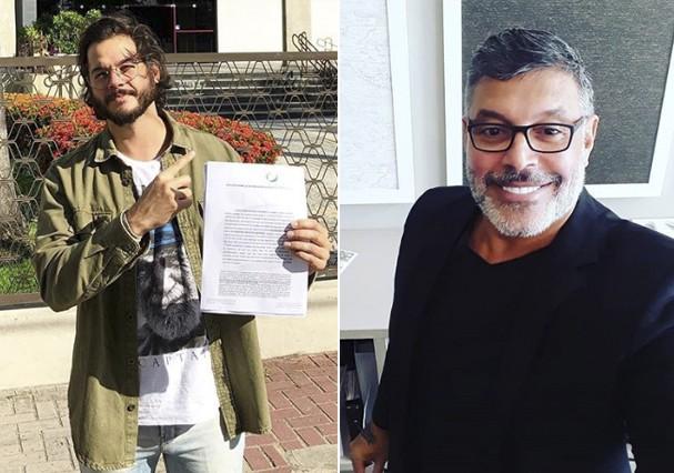 Túlio Gadêlha e Alexandre Frota (Foto: Reprodução)