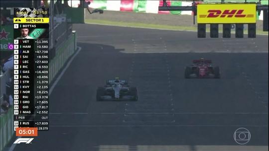 Bottas vence o GP do Japão após erro de dupla da Ferrari na largada