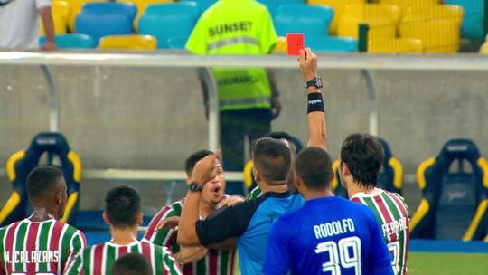Confusão na súmula: árbitro de Vasco x Fluminense relata que Luciano foi expulso por empurrar Dodi