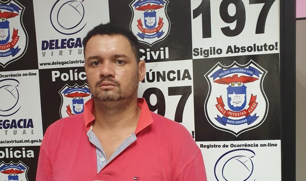 Até o fim de 2019, polícia divulgava imagens de rosto de suspeitos, como o caso de ex-marido preso por ameaçar mulher em Cuiabá — Foto: Polícia Civil de Mato Grosso/Assessoria