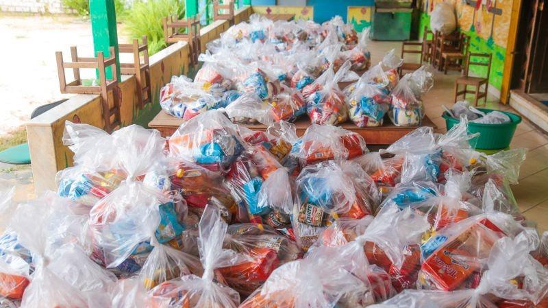 Estudantes de escolas municipais de Nossa Senhora do Socorro recebem kits de alimentação esta semana