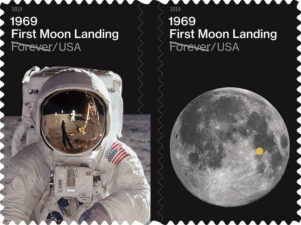 29 de maio - Correios dos Estados Unidos lançam selo comemorativo em 19 de julho de 2019 — Foto: Divulgação/Serviço Postal dos Estados Unidos