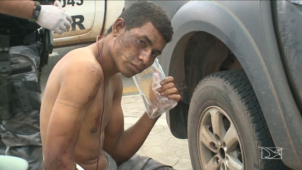 Darlan Melo está preso por ser suspeito de assassinar o publicitário Jesiel Pontes. (Foto: Reprodução / TV Mirante)