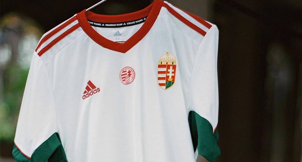 Classificada para a Euro, Hungria também lançou novo uniforme — Foto: Divulgação/Adidas