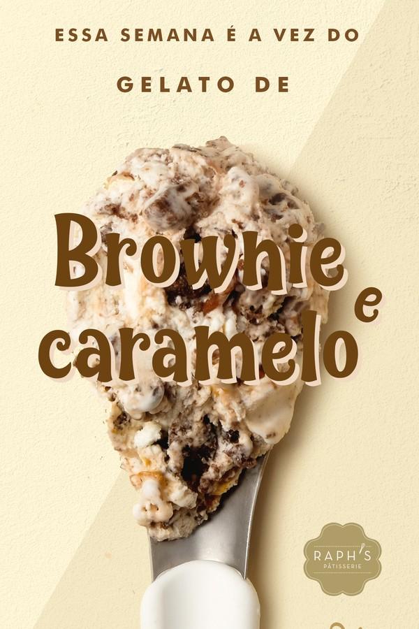 Brownie e Caramelo salgado: gelato de fior di Latte, recheado de caramelo salgado, brownie e crumble de brownie. (Foto: Divulgação)