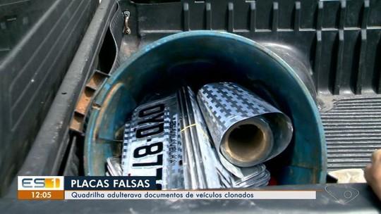 Quadrilha que adultera documentos de veículos clonados é investigada no ES