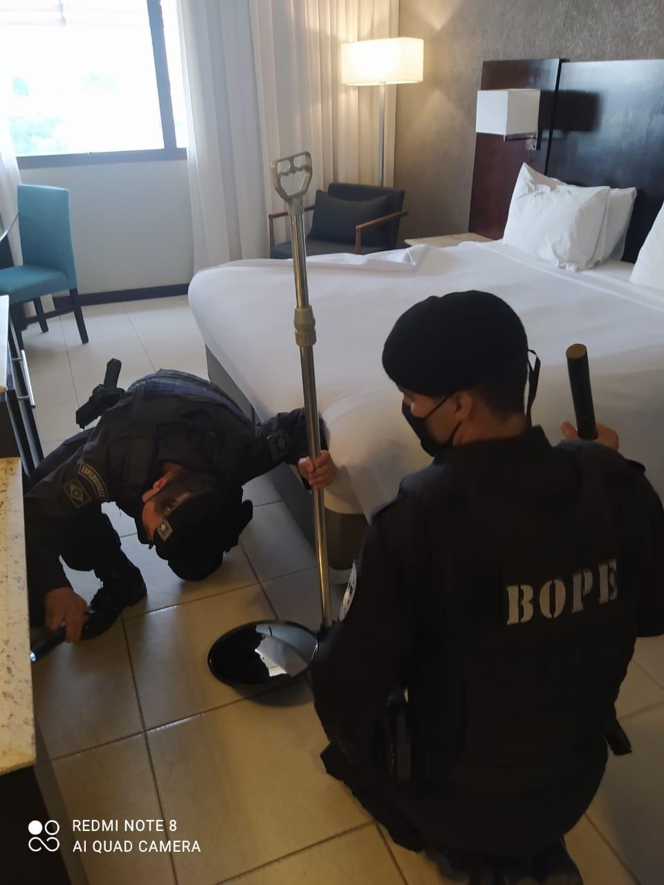 Esquadrão de bombas faz vistoria em hotéis em que seleções vão ficar para a Copa América em Cuiabá