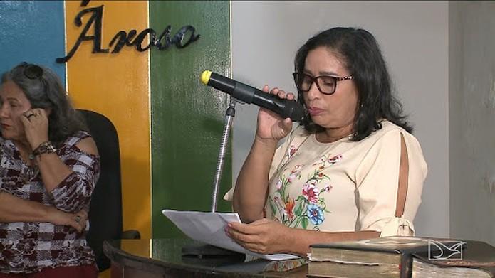 Após AVC em Domingos Dutra, vice Maria Paula toma posse como prefeita de Paço do Lumiar — Foto: Reprodução/TV Mirante