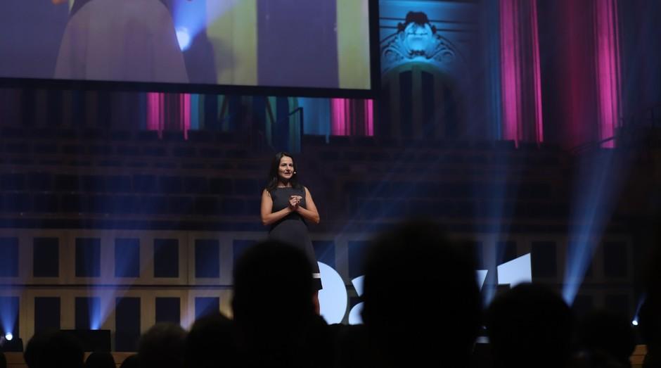 Fabiana Salles, fundadora da Gesto Saúde, no Day1 (Foto: Divulgação)