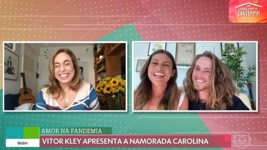 Vitor Kley recebe declaração da namorada portuguesa: 'Não largo mais'