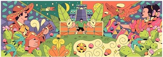 Doodle Mexico (Foto: Reprodução/Google)