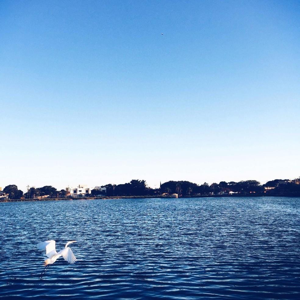 Lagoa que fica nas proximidades da casa com anúncio de venda (Foto: Dick Arruda/Arquivo Pessoal)