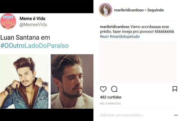 Mariana Bridi comenta semelhança de Rafael Cardoso com Luan Santana  (Foto: Reprodução)