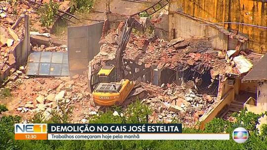Armazéns do Cais José Estelita começam a ser demolidos