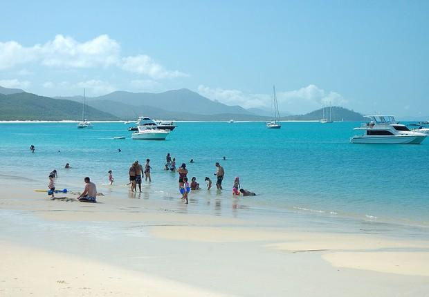 Whitehaven Beach - praia - Austrália (Foto: Wikimedia Commons)