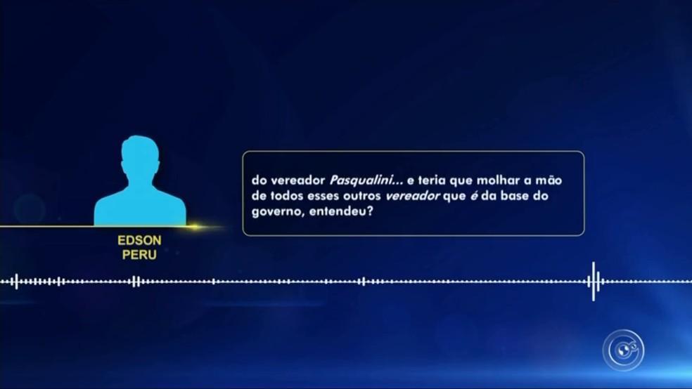 Áudios com cobrança de doações vazaram em Várzea Paulista — Foto: TV TEM/Reprodução