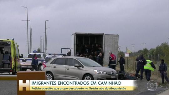 Polícia encontra 41 imigrantes dentro de caminhão na Grécia