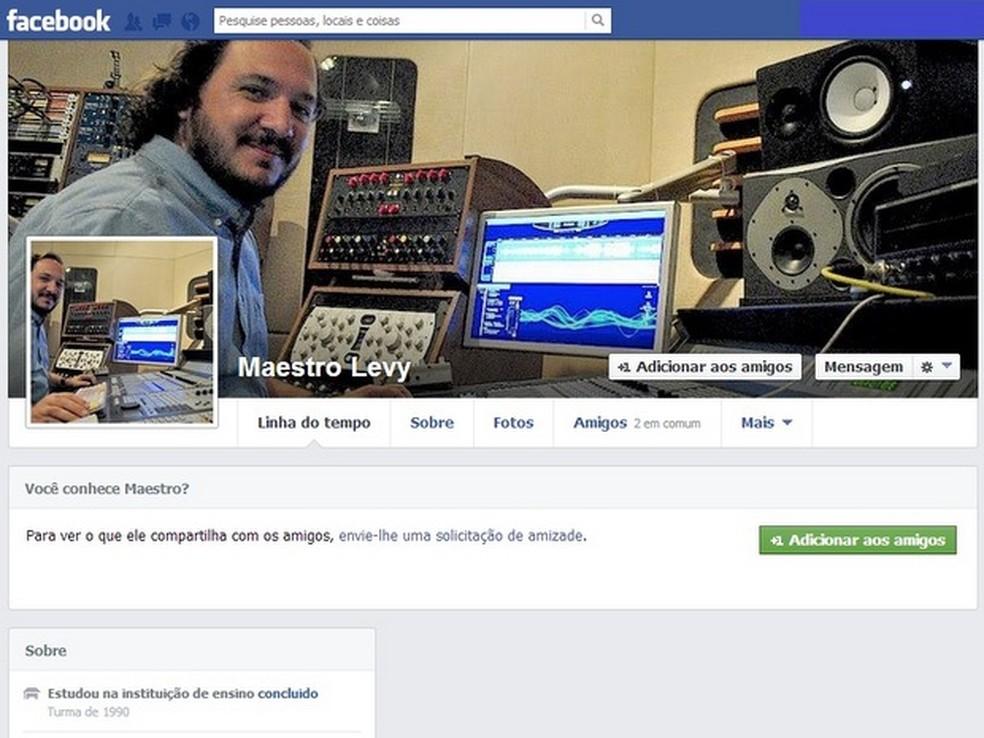 Eliel Silveira Levy - São Pedro — Foto: Reprodução/Facebook