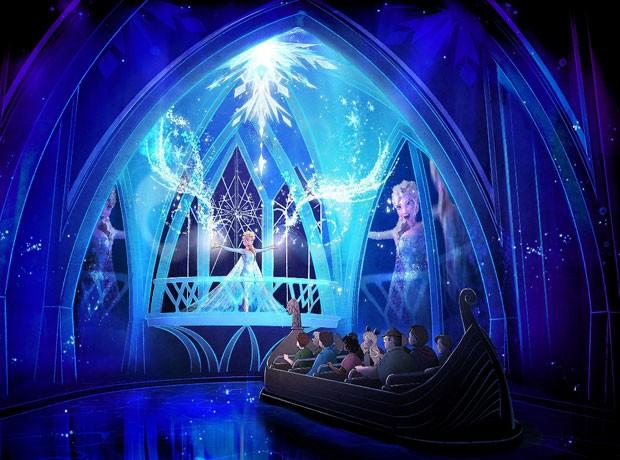 Desenho mostra como deve ser a atração dedicada a Frozen no Epcot, na Disney (Foto: Walt Disney World/Divulgação)
