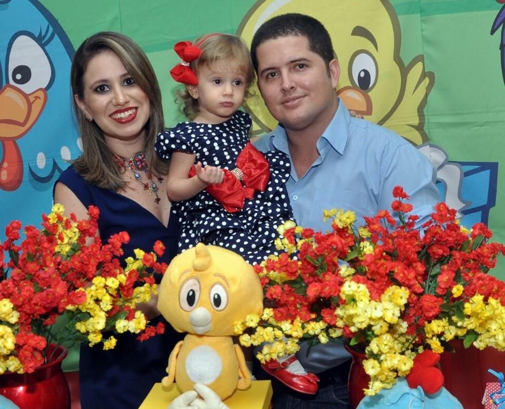 Família reunida no aniversário de 2 anos de Ana Laura (Foto: Arquivo Pessoal/Gabriela Barbosa)