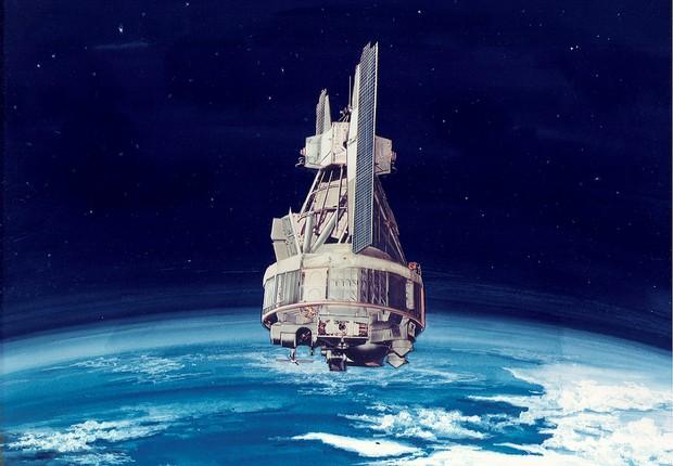 NASA Nimbus Earth, satélite de observação e pesquisa científica da agência espacial norte-americana (Foto:  NASA/Goddard)