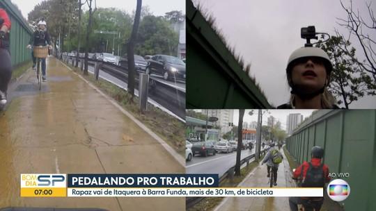 Bom Dia acompanha rapaz que faz o trajeto de Itaquera a Barra Funda