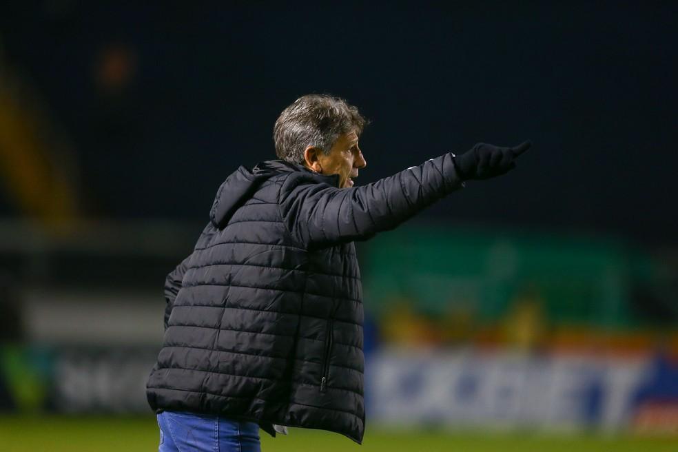 Renato Gaúcho mostra confiança na retomada no Brasileirão  — Foto: Lucas Uebel / Grêmio FBPA