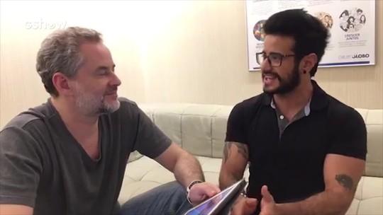 Tarso Brant revela a Dan Stulbach que se emociona com cenas de Ivana