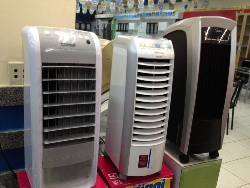 Climatizadores são uma alterna para a baixa umidade do ar — Foto: Yara Pinho/G1