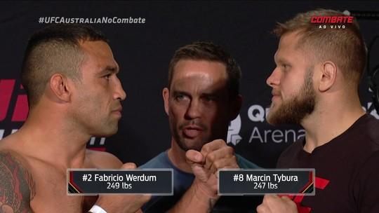 Werdum e Tybura batem peso, mas quatro atletas ficam acima no UFC Austrália