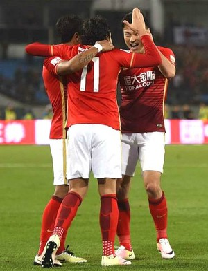 Ricardo Goulart faz dois gols em vitória do  Guangzhou  (Foto: Facebook)