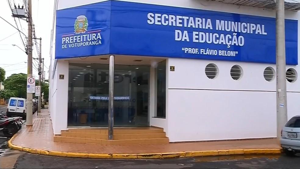 Secretaria de Educação de Votuporanga — Foto: Reprodução/TV TEM