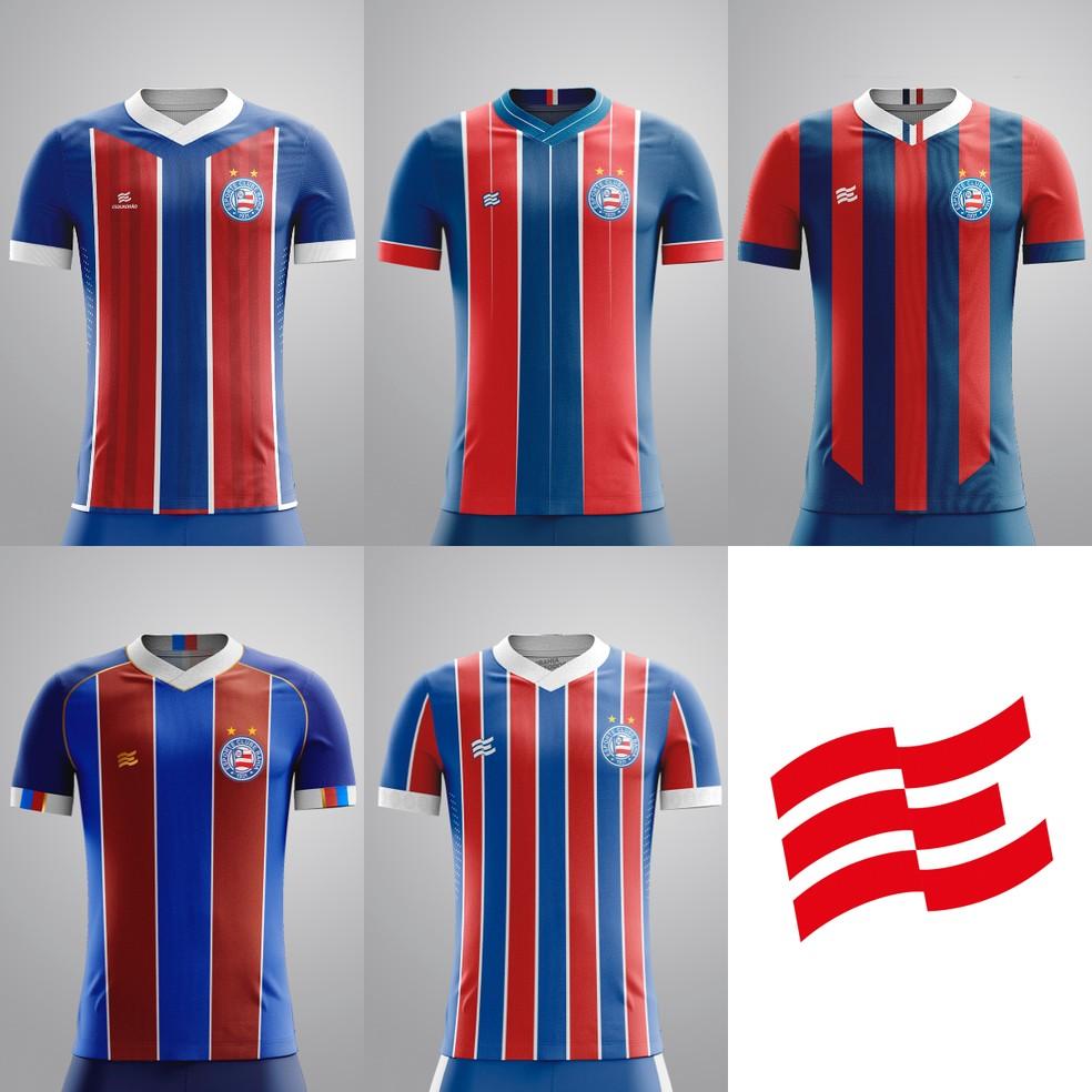 Concurso de camisa do Bahia: padrão número 2 — Foto: Divulgação / EC Bahia