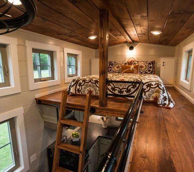 As casas da Timbercraft Tiny Homes não deixam de ter regalias e conforto só porque têm pouco espaço (Foto: Reprodução)