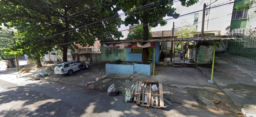 Briga com tiros aconteceu na Rua Mauro, em Vigário Geral — Foto: Reprodução/Google StreetView