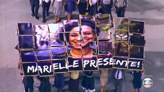 Vai-Vai mostra lutas do povo negro em desfile com irmã e filha de Marielle Franco