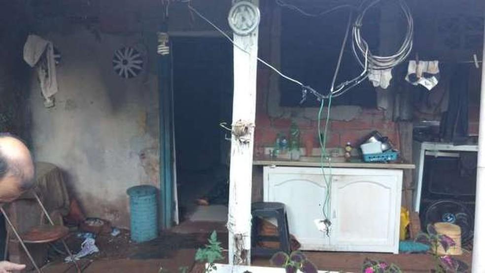 Marina foi morta a facadas  pelo filho e teve o corpo queimado porque negou R$ 10 a ele, em Dourados. — Foto: Dourados News