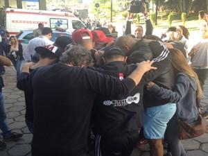 Banda de Cristiano Araújo chora a morte do cantor Goiás Goiânia (Foto: Sílvio Túlio/G1)