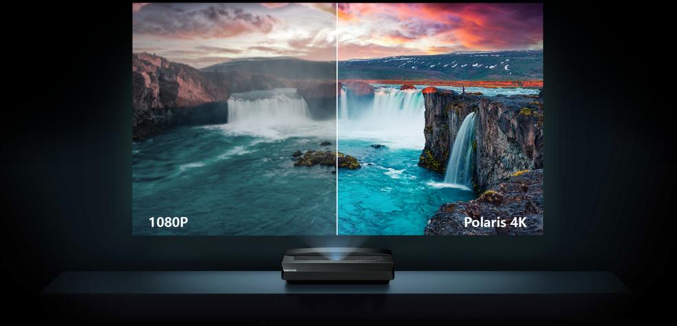 Polaris tem resolução 4K nativa e promete alta qualidade de imagem — Foto: Divulgação/Bomaker