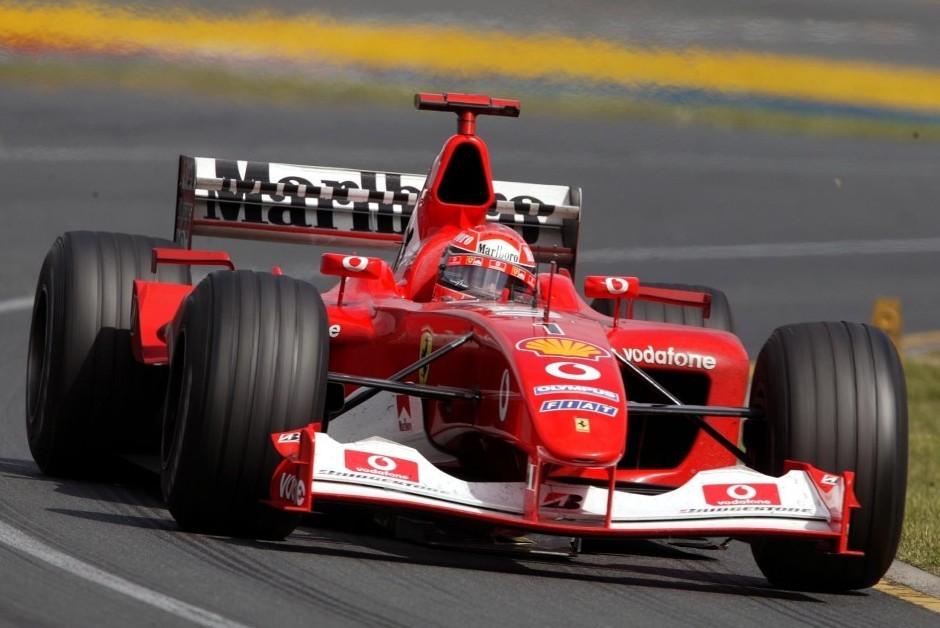 Ferrari F2002, modelo que levou Michael Schumacher ao pentacampeonato da Fórmula 1 (Foto: Divulgação/ Ferrari)