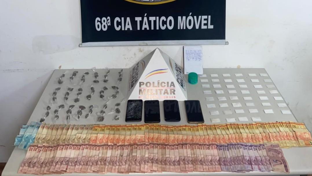 'Fecha Batalhão': Trio é detido com mais de 100 porções de maconha e cocaína em Nova Serrana