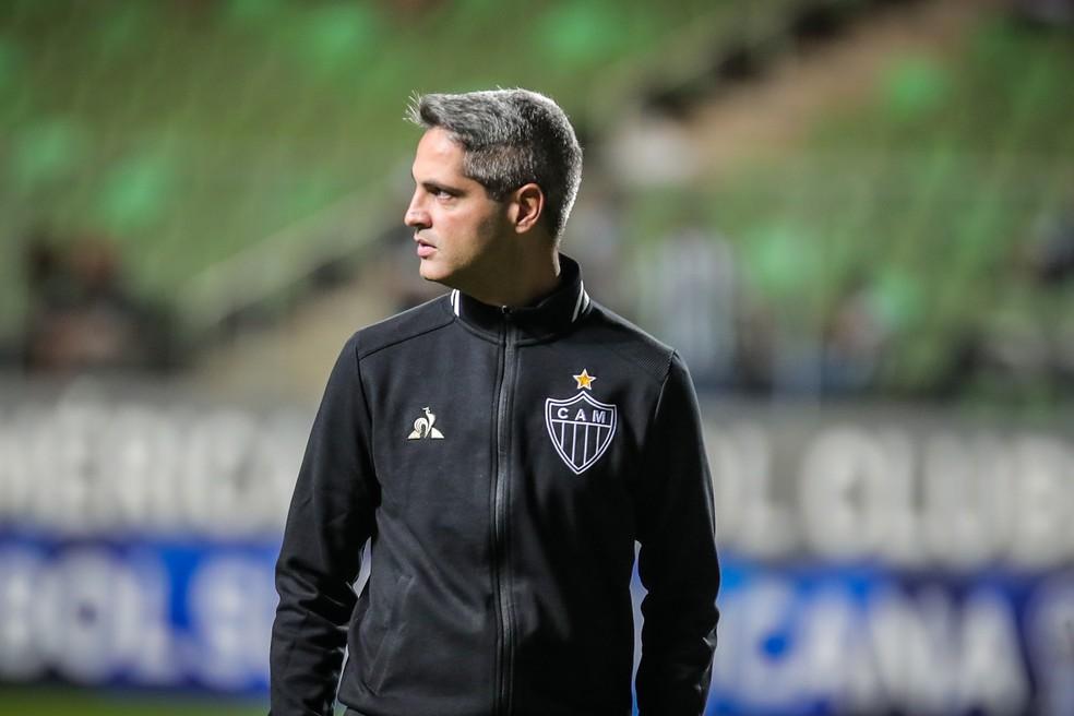 Rodrigo Santana admite favoritismo do Galo, mas faz alerta com retranca do CSA — Foto: Bruno Cantini/ Atlético-MG