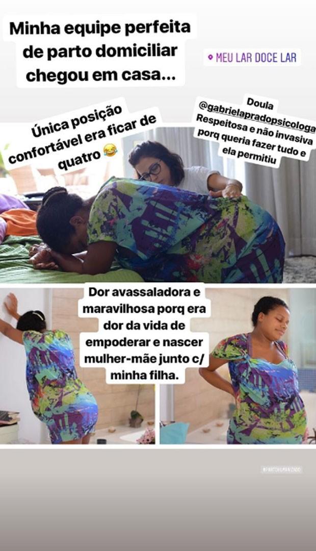 Quitéria Chagas relembra parto (Foto: Reprodução)