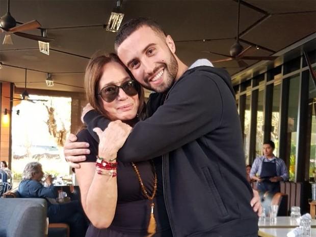Susana Vieira com o neto rafael Cardoso (Foto: Reprodução/Instagram)