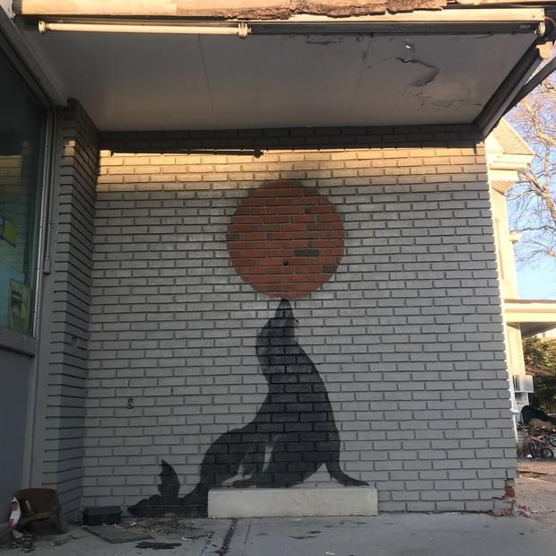 Obra de Banksy em Nova York (Foto: reprodução)