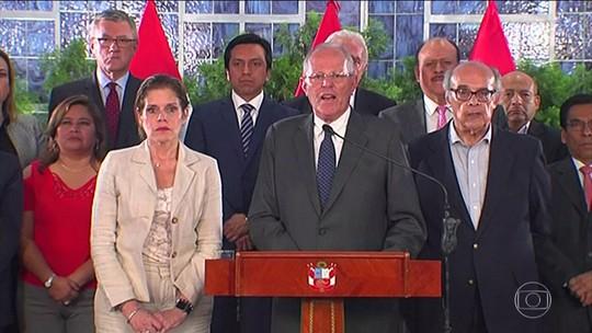 Presidente do Peru diz que não renunciará e pede que levantem seu sigilo bancário pelo caso Odebrecht