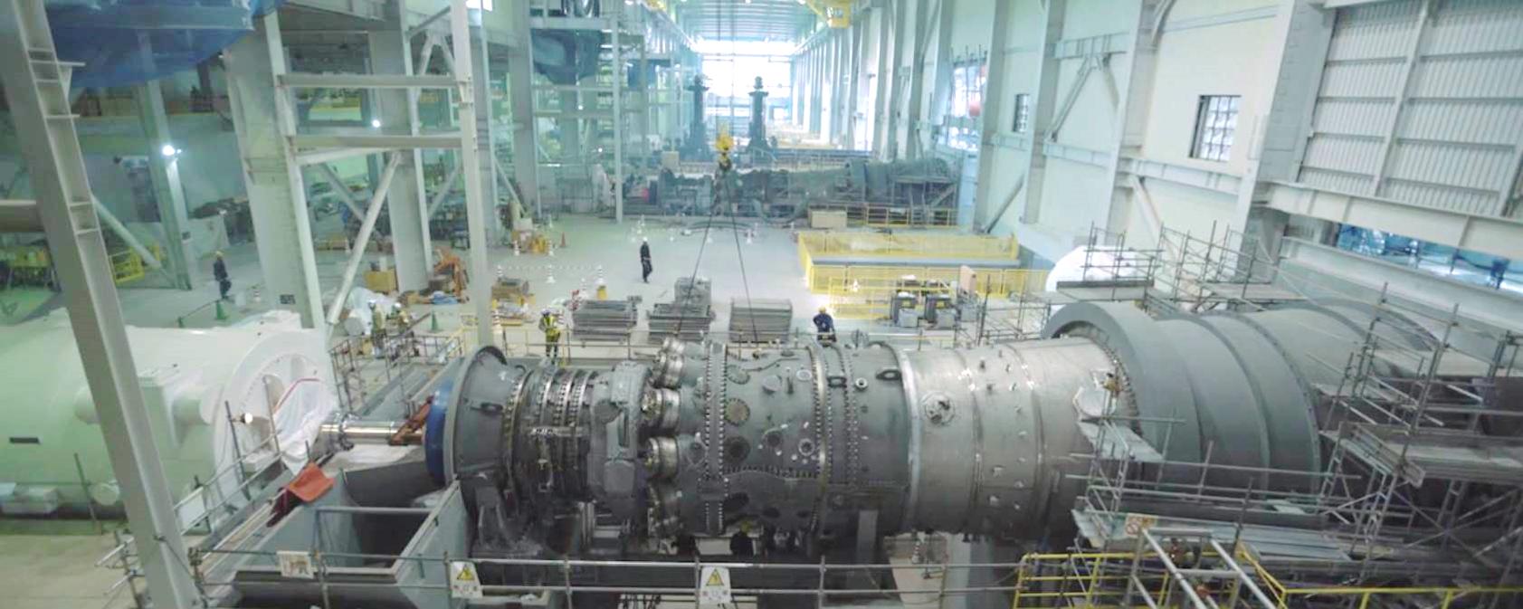 Turbina de gás 7HA da GE na Chubu Electric Nishi-Nagoya (Foto: GE)