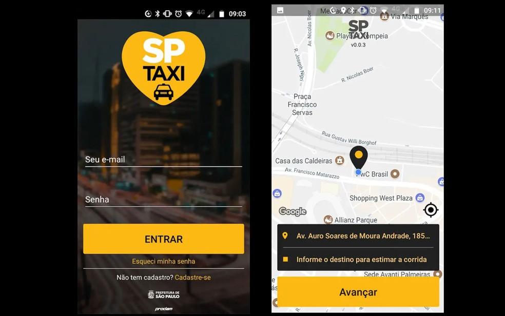 Aplicativo de Táxi SPTaxi (Foto: Reprodução)