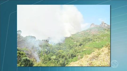 Incêndio no Parque Estadual da Pedra Selada, em Resende, destruiu área de 60 hectares